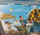 New Xbox One Cirrus White Console Sunset Overdrive Bundle (500GB System)