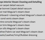 Car interior steam cleaning / sofa