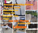 Renovation,plumber lukman 0189861147