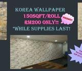 Wallpaper PROMO RM200 for 150sqft roll!! - KARPET MALAYSIA