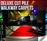 Deluxe cut pile walkway carpets