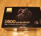 Buy:Nikon D600 Digital Slr Camera With 24-85Mm Lens Kit