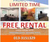 Serviced Office FREE TRIAL Limited Unit–Damansara Perdana