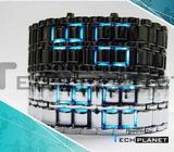 Japanese Iron samurai LED watch