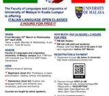 ITALIAN LANGUAGE CLASSES @ UNIVERSITY OF MALAYA (KL)