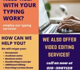 PROFESSIONAL TYPING SERVICE