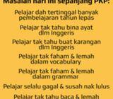 Kelas Inggeris online semasa PKP utk pelajar sekolah & MUET